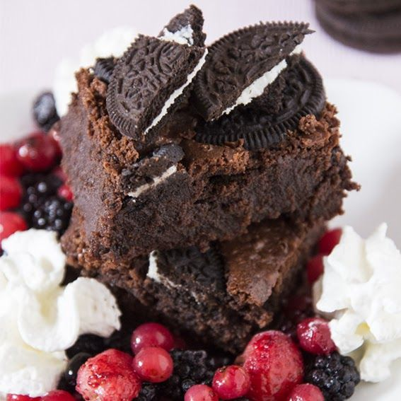 Oreo Brownies - Un biscotto al giorno