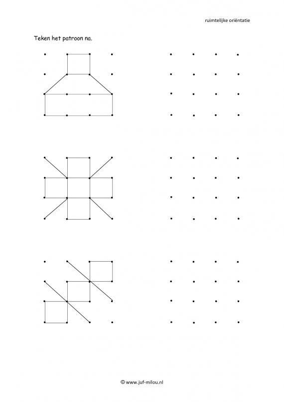 Dit werkblad en nog veel meer in de categorie ruimtelijke orientatie - natekenen…