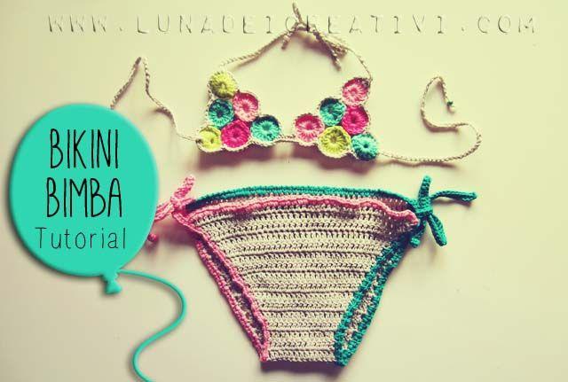 LUNAdei Creativi | Bikini Bimba a Crochet: Tutorial | http://lunadeicreativi.com