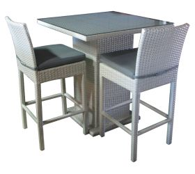 Outdoor Wicker Bar Setting.  Other wicker bar sets available.