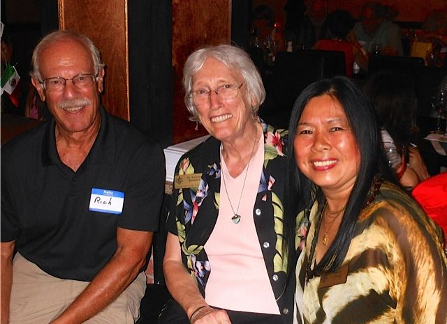 Dr. Richard Prager, Dr. Carolyn Bloomer & Irene Leung at the Tsunami Meet & Greet in downtown Sarasota in November 2013