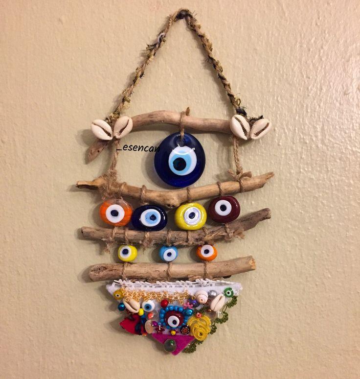 Nazarlık, nazar, nazar boncuğu, amulet, yallos, driftwood, gargalak, gargalaklı nazarlık, hand made, design, ig: _esencan