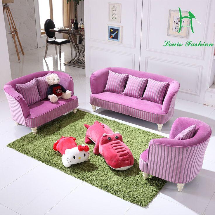 Sofa Beds Princess baby children sofa sofa can unpick and wash sofa kindergarten double trio male girl