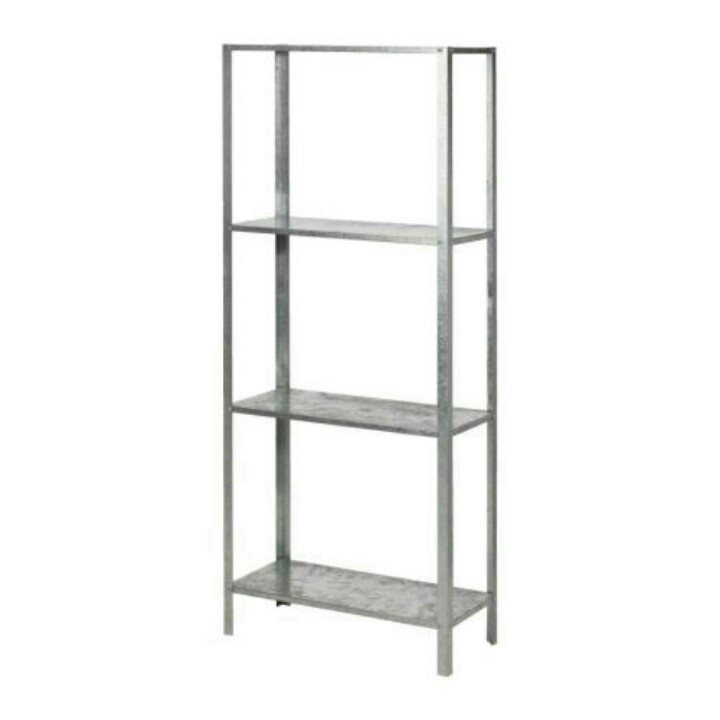 Ikea Hyllis Shelving - Galvanized Metal