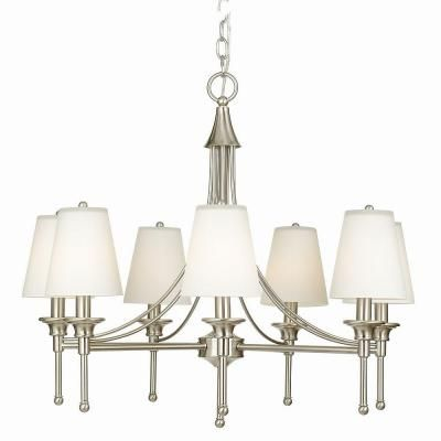 Hampton Bay Sadie Collection 7-Light Satin Nickel Chandelier-21389-016 at The Home Depot