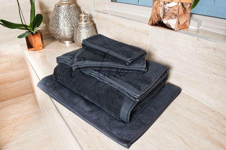 Charcoal Ultra Fine Cotton Towels #UltraFineCotton #LuxuryTowels #iRelaxAU #AweSplendid #BespokeBathSet #SportsTowel