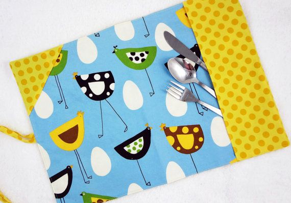 Deluxe lunch placemat, by #mylittlepoppyseed.   Be sure to visit and like my Facebook page and my Etsy shop: https://www.facebook.com/MyLittlePoppySeedCreations https://www.etsy.com/shop/mylittlepoppyseed