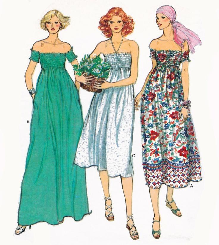 Vogue Summer Sundresses Sewing Pattern Illustration