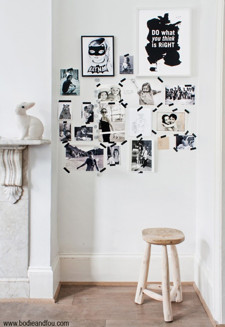 "Inspirational wall, black & white // photo: François Kong, styling: Karine Kong, graphic print ""Do what"": Formelle Design"