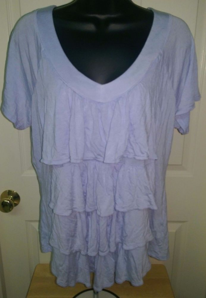 New York & Company Woman's Blue Layer Look Shirt Size L #NewYorkCompany #Blouse #Casual