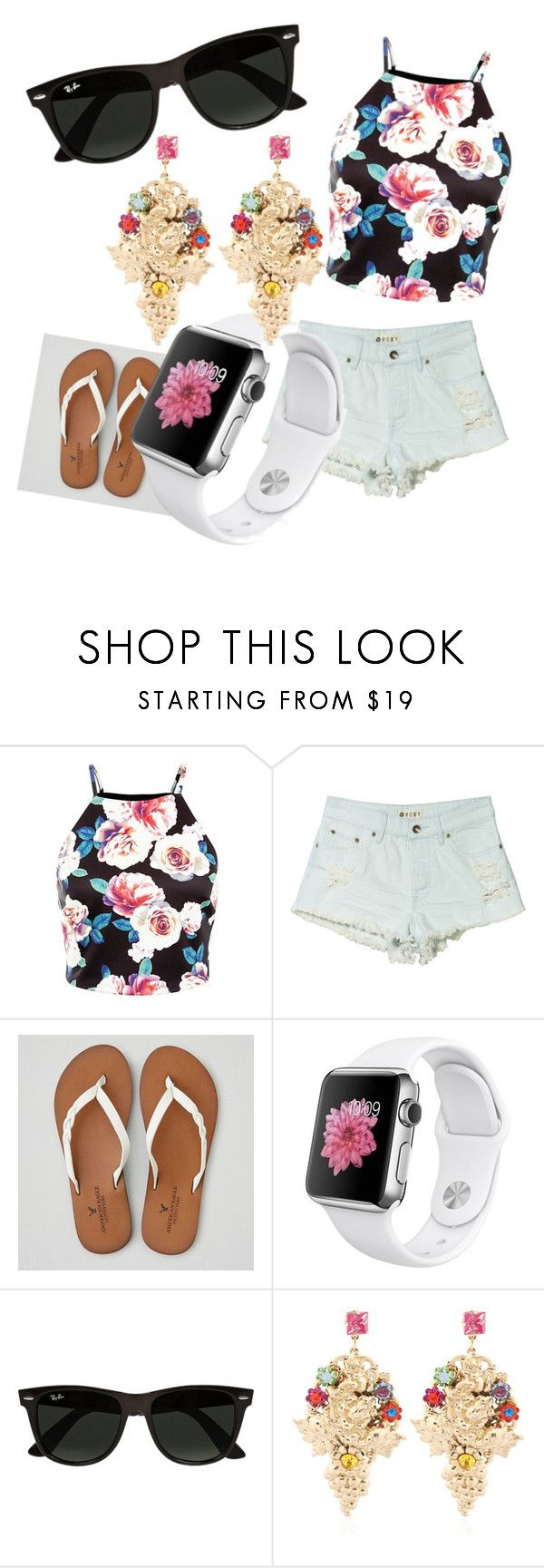 """""""#3"""" by bts-got7-block-b ❤ liked on Polyvore featuring Roxy, American Eagle Outfitters, Ray-Ban, Halo & Co., women's clothing, women, female, woman, misses and juniors"""