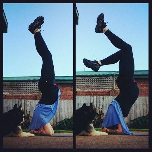 32 weeks pregnant - headstands - yoga