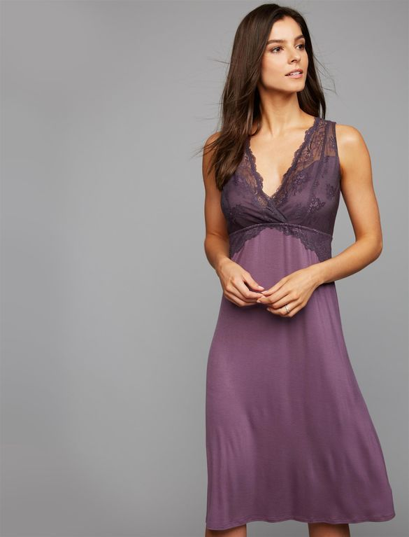 4383f33c66dd2 A-line Nursing Nightgown, Vintage Violet | Money Can Buy This ...