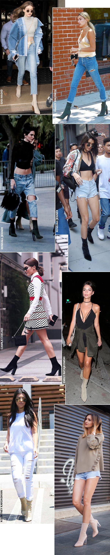 Street style look com bota meia.