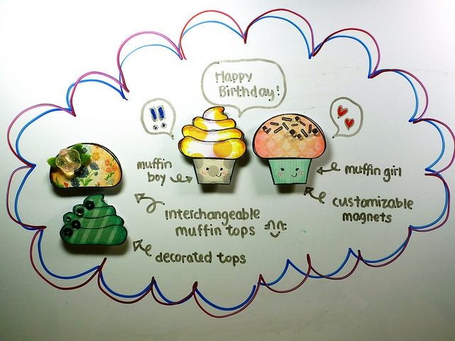 Muffin Magnets by *茵~, via Flickr