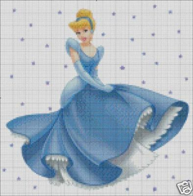Free+Disney+Cross+Stitch+Patterns | thesassystitch : Disney Princess Cinderella Cross Stitch Pattern