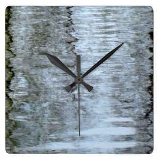 Reflections on the ice Square Wall Clock