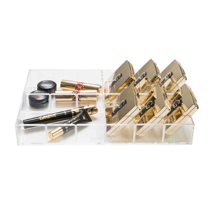 Impressions Vanity Alexa Acrylic Adjustable 12-Slot Drawer Organizer