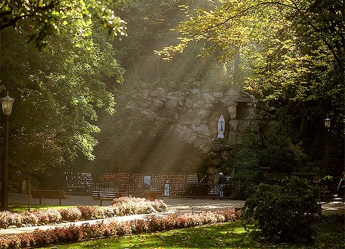 The Grotto at the University of Notre Dame...so beautiful, and my favorite place to visit every summer....