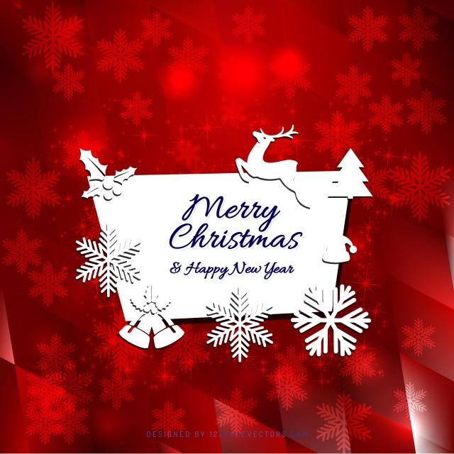 Merry Christmas And Happy New Year Greeting Card Template Happy