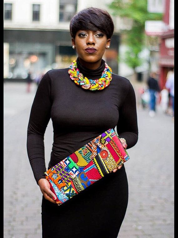 Ankara purse, ankara bag, african print bag, african purse, Purple & african…