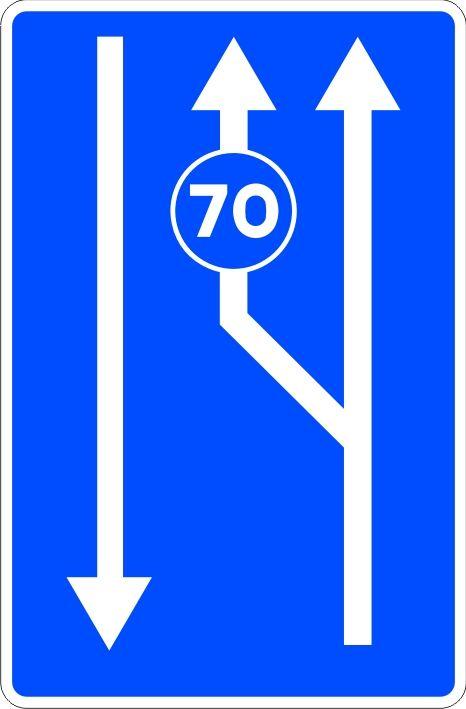 Señal carril obligatorio para tráfico lento