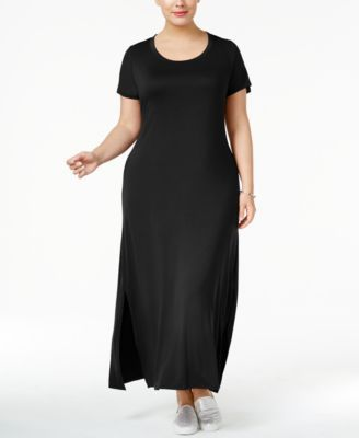 Style & Co Plus Size T-Shirt Maxi Dress, Only at Macy's $34.99 Get a sleek new centerpiece for a great look with this plus size maxi dress from Style & Co, perfect for mixing and matching with colorful accessories.