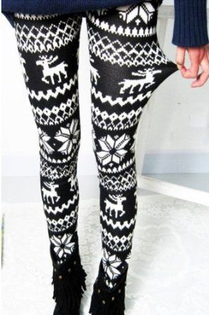 Black and white fall deer leggings on Amazon $4.99
