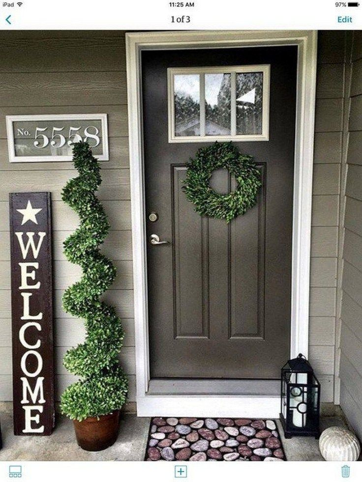60 Farmhouse Front Door Entrance Design Ideas Tips On Selecting Your Front Doors Page 49 Of 63 Front Porch Decorating House With Porch Porch Decorating