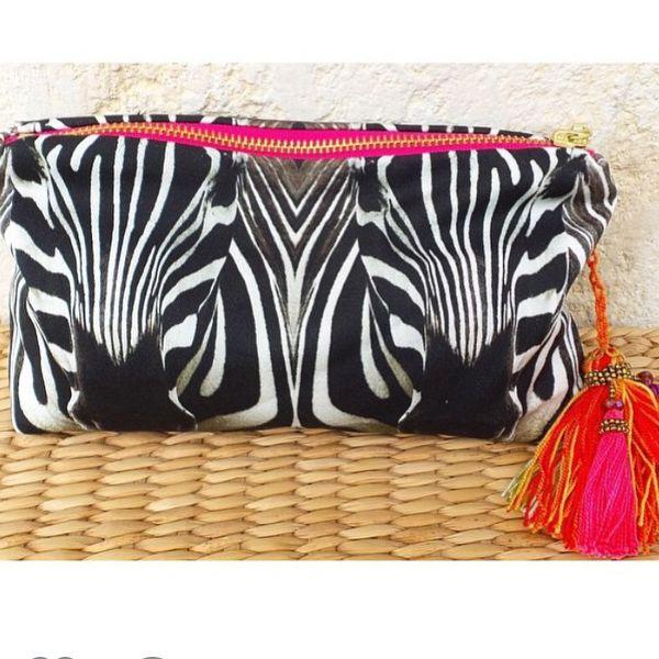 Zebra waterproof clutch