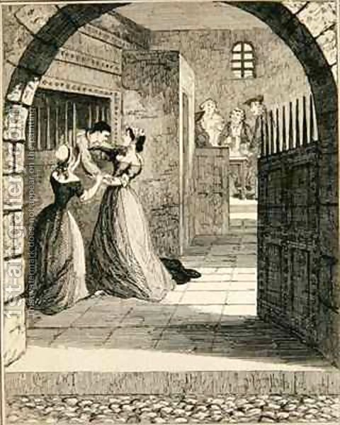 George Cruikshank: Jack escaping from the condemned cell at Newgate Prison