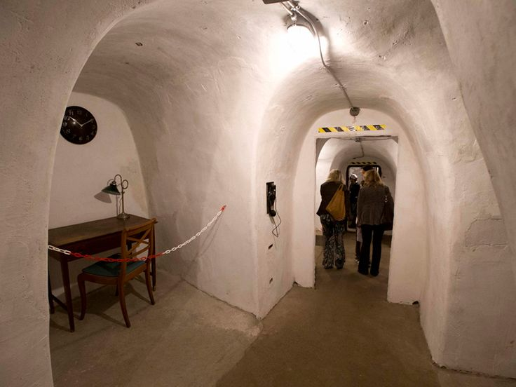 Benito Mussolini's first air raid shelter, created in old wine cellars, opened to press in Villa Torlonia in Rome.