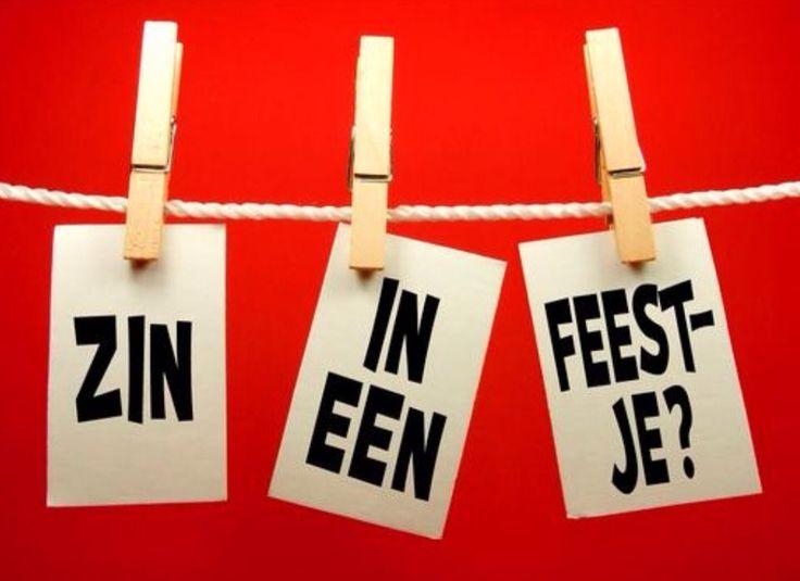 Zin in een feestje? Op een kaartje plakken als uitnodiging.
