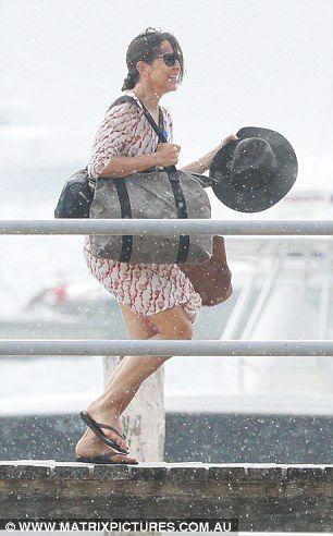 While it may have been perfect sailing weather this morning, Danish royals Princess Mary and Prince Frederik were not expecting to get caught in the nasty downpour that battered Sydney.