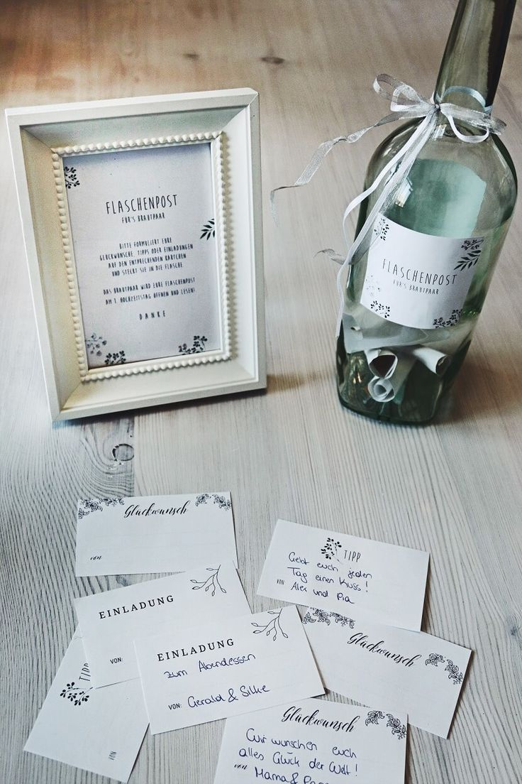 Message in the bottle: Guestbook alternative for the wedding