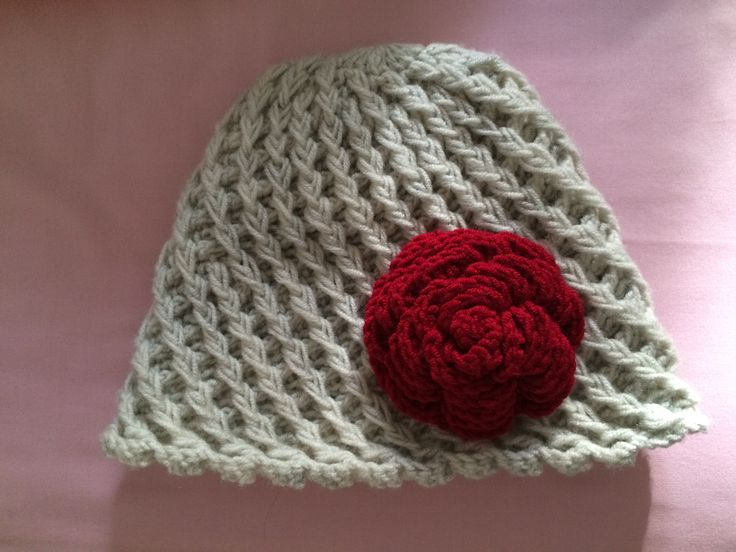 #crochet #handmade #hat #flower