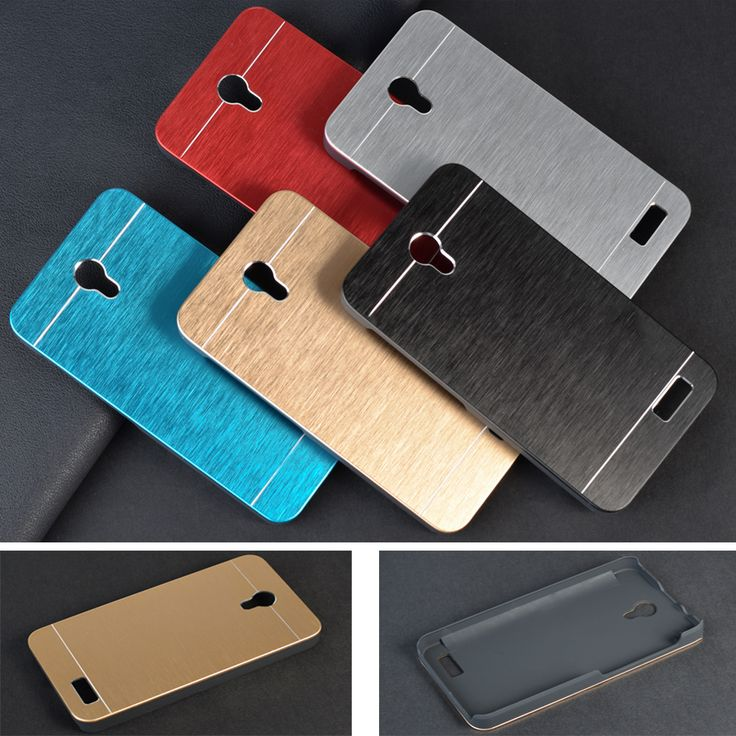Luxury Metal Cases For Lenovo A319 A 319 Hard Brushed Metal Aluminium + PC material Back phone case cover