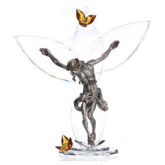 Crucifijo con cristales Ámbar 32 cm | venta online en HOLYART