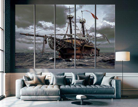 Old Sailboat Wall Art Sailboat Canvas Print Old Ship Wall Art Ship Wall Art Historic Sailing Ship Ship Sailboat Wall Art Hang Canvas Art Ship Canvas