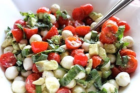 ValSoCal: Mozzarella, Tomato and Avocado Salad: Avocado Salads, Fun Recipes, Side, Mozzarella Salad, Savory Recipes, Healthy, Summer Salad, Cooking, Cherries Tomatoes