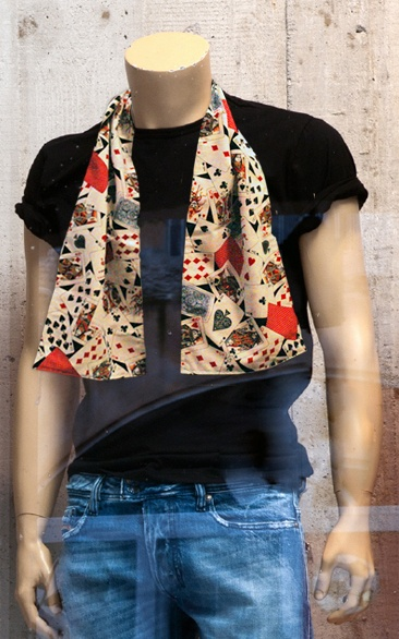 Playing Card Scarf | Casino Scarves | Pinterest | Scarfs ...