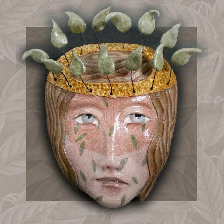 """""""All Fall Down"""" -  Porcelain mask sculpture -  www.maskwoman.com"""