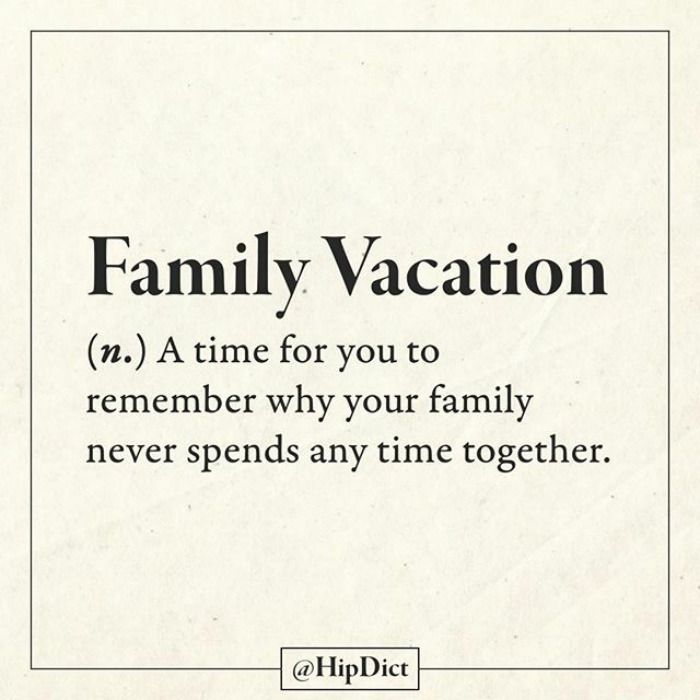 Family vacation (n.)
