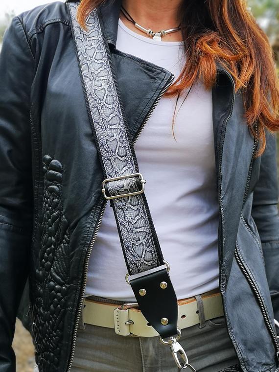 Crossbody Strap for Purses Replacement Adjustable Guitar Multicolor Style Handbag Straps Snakeskin