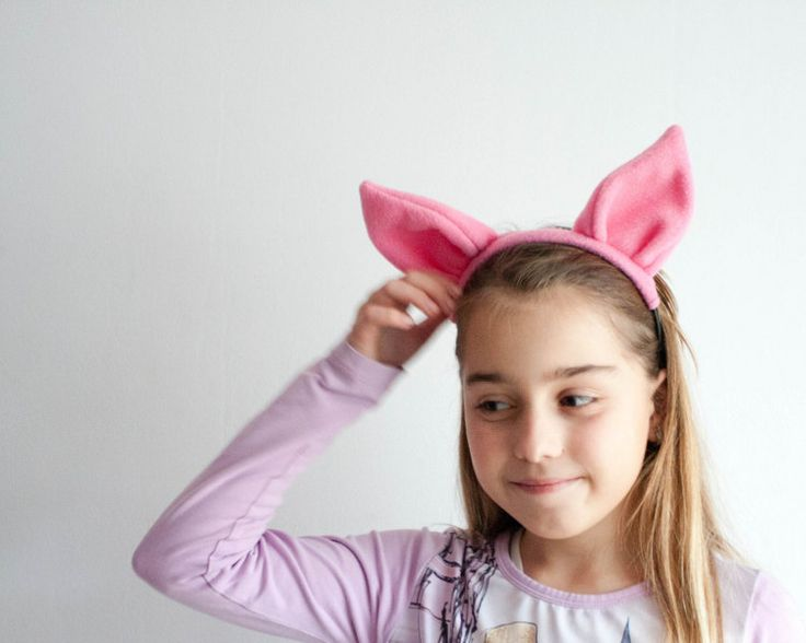 Best 25 pig ears ideas on pinterest peppa pig birthday ideas pig ears headband pink animal ears head band childrens okidz pronofoot35fo Images