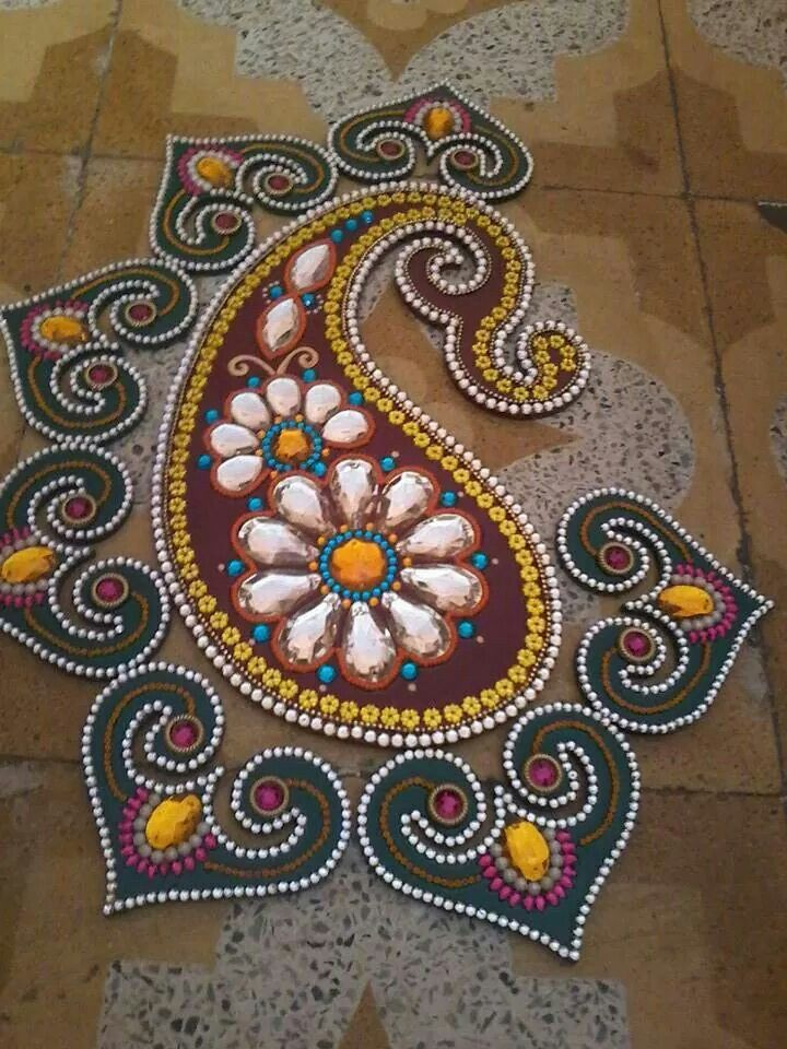 1000 images about kundan rangoli on pinterest rangoli for Floor rangoli design