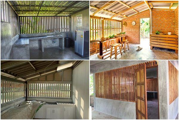 19 ไอเด ย ต ระแนงระบายอากาศให ห องคร ว เพ อเต มท ก บการปร งอาหารไทย Ihome108 Wood Slat Kitchen Home Decor Wood Slat