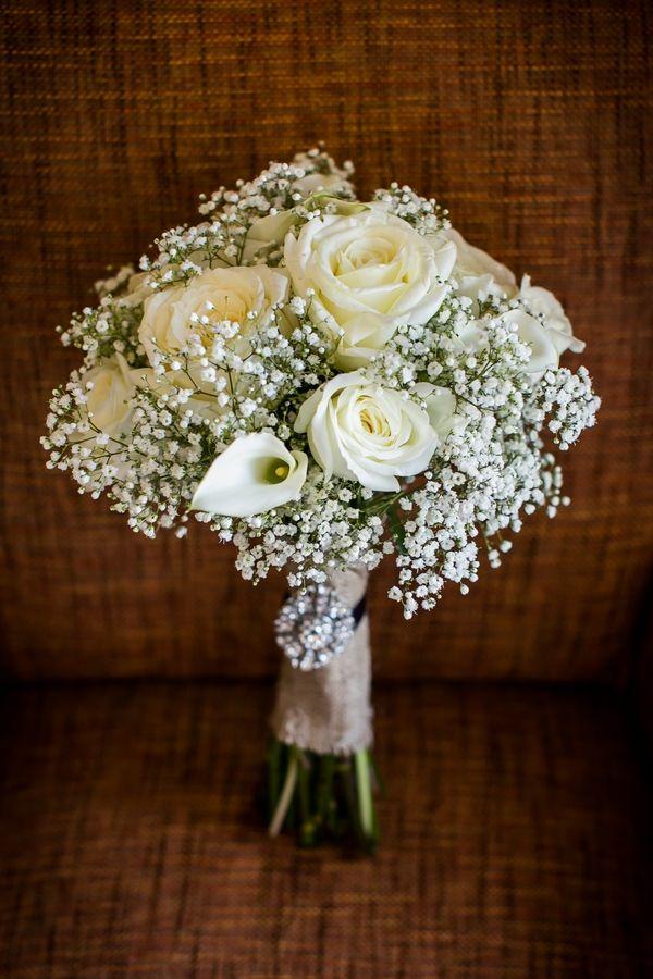 White Rustic Wedding Bouquets Elegant Autumn