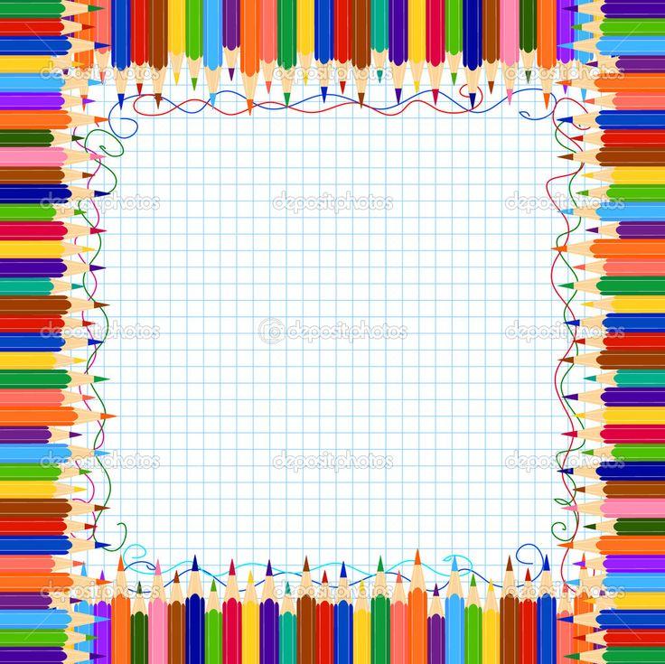school teacher clip art | Pencil border | Stock Vector © Evgenia Nikitina #3394992