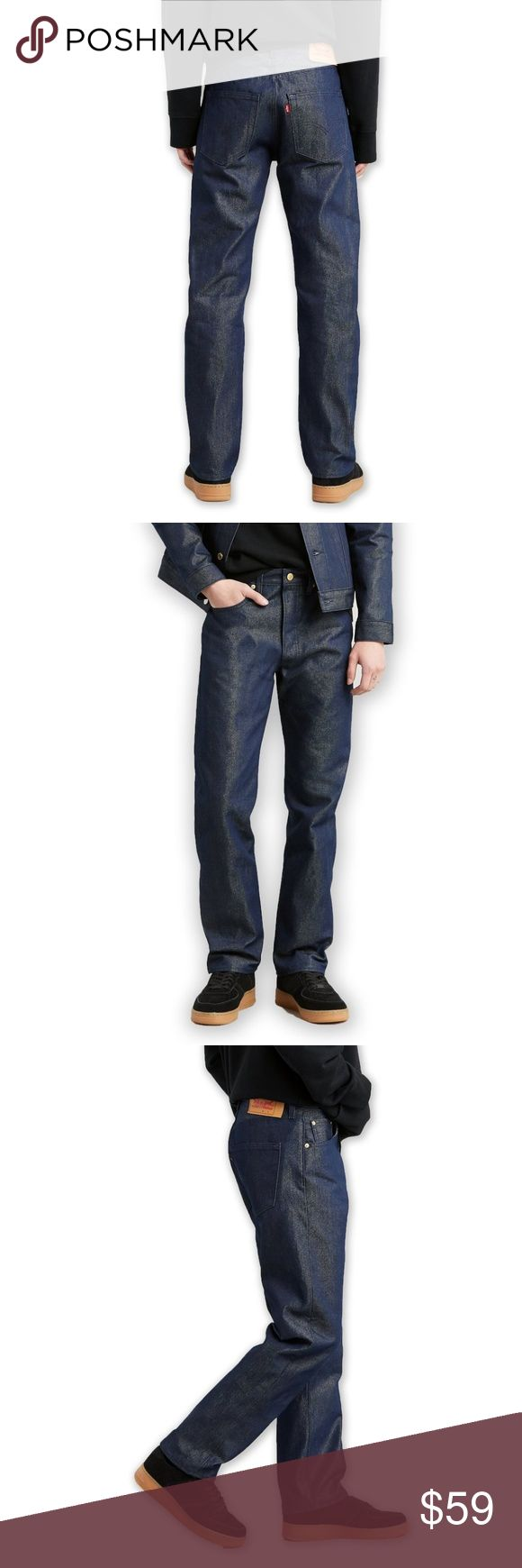 New Levis 501 38×30 Shrink-to-fit Gold Raw Jeans N…